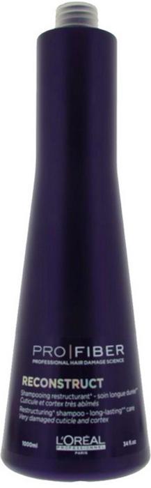LOreal Professionnel Шампунь с продолжительным действием Expert Pro Fiber Reconstruct Shampo, 1000 млLE1548000LOreal Professionnel Pro Fiber Reconstruct Shampoo - Шампунь для очень сильно поврежденных волос 1000 млИнновационный восстанавливающий шампунь для ухода за сухими волосами и поврежденными волосами.Мягкая формула с натуральными протеинами и аминосиланом идеально подходит для травмированных волос после окрашивания, обесцвечивания, химической завивки или выпрямления. Шампунь возвращает волосам эластичность и блеск, сохраняет их натуральные качества. Средство эффективно восстанавливает волосы, укрепляя, питая и увлажняя их. Входящие в состав протеины способствуют усилению кровоснабжения и питания волосяных луковиц. Шампунь возвращает волосам силу и блеск, обновляет и восстанавливает их. Легко смывается, делая волосы мягкими и блестящими.