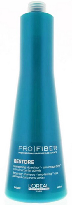 LOreal Professionnel Шампунь для сильно поврежденных волос Pro Fiber Restore Shampoo, 1000 млLE1547900LOreal Professionnel Pro Fiber Restore Shampoo - Шампунь для сильно поврежденных волос .Предназначен для ухода за волосами в домашних условиях. С его помощью волосы прекрасно очищаются, они словно оживают от деликатной, мягкой заботы.Активные компоненты:- аминосилан - силиконовое соединение кремния для связывания внутренних слоев волоса в трехмерную сеть - отвечает за укрепление и восстановление структуры.- катионный полимер, покрывающий кутикулу волоса защитной пленкой и «герметизирующий» комплекс Aptyl 100 внутри волоса.Ваши волосы вновь станут сильными, здоровыми, мягкими и шелковистыми.