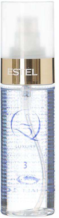 Estel Масло блеск для всех типов волос Q3 LUXURY 100 млQ3L/MМасло-блеск Q3 Luxury – это третий шаг в процедуре экранирования Q3 Therapy от российского бренда Estel Professional. Продукт предназначен для финального придания волосам ослепительного мерцающего блеска и удивительной гладкости.В состав средства входит масло камелии и ореха макадамии, обладающие прекрасными проникающими, кондиционирующими и защитными свойствами. Масло камелии окутывает каждый волосок тончайшим слоем, придающим прядям шелковистость, сияние и потрясающий вид. Надежно уберегает от UV-излучения и температурных нагрузок. Масло ореха макадамии усиливает блеск локонов, восстанавливает поврежденные участки структуры, прекрасно вбирается волосами, насыщая их витаминами, аминокислотами и питательными веществами.Результат: После нанесения масла Q3 Luxury локоны приобретают потрясающий блеск и мягкость кашемира, становятся гладкими и удивительно красивыми. Благодаря эффекту глубокого кондиционирования пряди легко расчесываются, не спутываются, имеют аккуратный ухоженный вид.