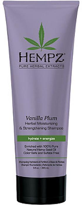 Hempz Шампунь растительный Ваниль и Слива средней степени увлажнения для ослабленных волос Vanilla Plum Herbal Shampoo 265 мл
