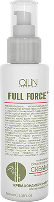 Ollin Крем-кондиционер против ломкости с экстрактом бамбука Full Force Hair & Scalp Purfying Anti-Breakage Cream 100 мл21075486Hair & Scalp Purfying Anti-Breakage Cream - крем-кондиционер против ломкости. Несмываемый крем-кондиционер с уникальной мягкой текстурой восстанавливает сухие, ломкие и секущиеся волосы. Моментальное действие продукта обеспечивается сочетанием активных компонентов, входящим в его состав. Продукт содержит экстракт бамбука, Oliglycan, Nicoment и Keradyn HH. Крем-кондиционер делает волосы живыми, подвижными и сияющими.