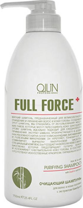 купить Ollin Очищающий шампунь для волос и кожи головы с экстрактом бамбука Full Force Hair & Scalp Purfying Shampoo 750 мл по цене 779 рублей