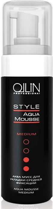 Ollin Аква мусс для укладки средней фиксации Style Aqua Mousse Medium 150 мл ollin professional style лосьон спрей для укладки волос средней фиксации lotion spray medium 250 мл