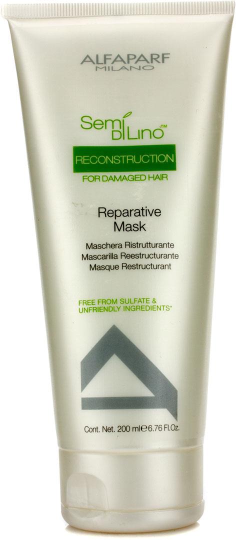 Alfaparf Маска для поврежденных волос Semi Di Lino Reconstruction Reparative Mask 200 мл10017Alfaparf Semi DiLino Reconstruction Reparative Mask Маска для повреждённых волос предназначена для особо эффективного восстановления и укрепления волос. С помощью восстанавливающей маски Альфапарф волосы станут не только здоровыми, гладкими и эластичными, но и приобретут объём и блеск, при этом сохраняя интенсивность натурального цвета. Входящие в состав маски для повреждённых волос Alfaparf особый комплекс олигоэлементов и вытяжка бамбука результативно способствуют наполнением жизненной волосы каждого волоса, при этом не позволяя окружающей среде оказывать негативное влияние на причёску.Подходит для типов волос: повреждённых, ослабленных, ломких, окрашенных.