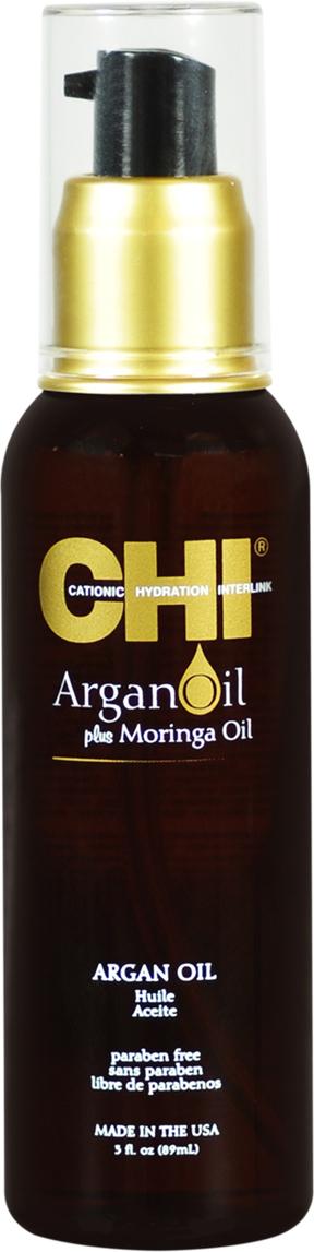 CHI Масло для волос Argan Oil, 89 млCHIAO3Масло для волос CHI Argan Oil представляет собой легкую, хорошо впитывающуюся смесь масел, специально разработанную для омоложения и увлажнения тусклых, поврежденных волос. Богатое антиоксидантами и витамином Е, масло мгновенно делает волосы гладкими и здоровыми, а укладку ослепительно блестящей и подвижной и защищает волосы от повреждения при термоукладке и УФ-лучей. Масло для волос CHI Argan Oil глубоко проникает в волос, восстанавливает и поддерживает кутикулярный слой. Делает волосы невероятно мягкими, послушными и блестящими, не утяжеляя их. Масло глубоко проникает в кортекс волоса, восполняя баланс влаги. Также рекомендуется использовать и для кожи головы, стимулируя рост волос.
