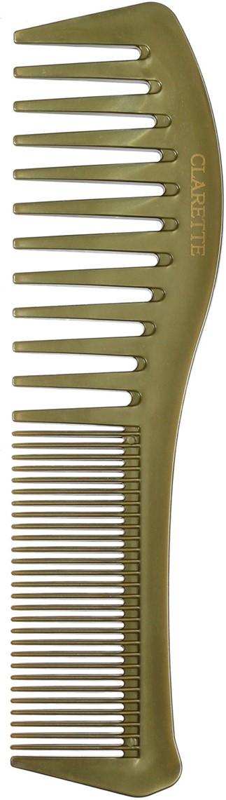 Clarette Расческа для волос комбинированная, цвет: оливковыйCPB 519Коллекция Clarette Перламутр- это расчески, щетки и термо-брашинги для ухода за волосами. Коллекция изготовлена из перламутрового пластика в яркой цветовой гамме. Форма расчески позволяет легко и удобно расчесывает даже густы волосы, благодаря разным размерам зубьцов позволяет расчесывать и разделять пряди. Подходит для ежедневного применения.