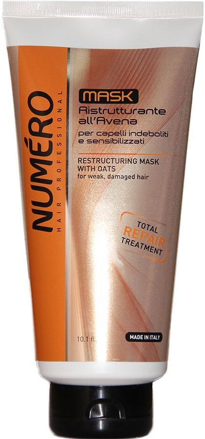 Brelil Крем-маска с вытяжкой из овса Numero Oat Mask, 300 мл brelil numero curl маска с оливковым маслом для вьющихся и волнистых волос 1000 мл