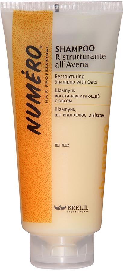 Brelil Шампунь с вытяжкой из овса Numero Oat Shampoo, 300 мл шампунь brelil professional restructuring oat shampoo