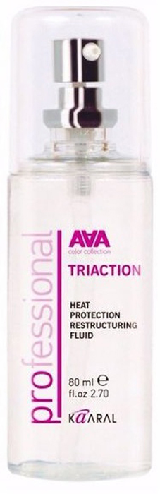 Kaaral Восстанавливающий флюид с термозащитой AAA Triaction Heat Protection Restructuring Fluid, 80 мл kaaral 10 031 краска для волос aaa 60 мл