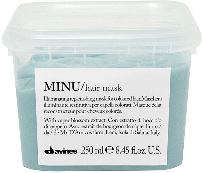 Davines Восстанавливающая маска для окрашенных волос Essential Haircare New Minu Hair Mask, 250 мл маска davines minu illuminating replenishing mask объем 250 мл