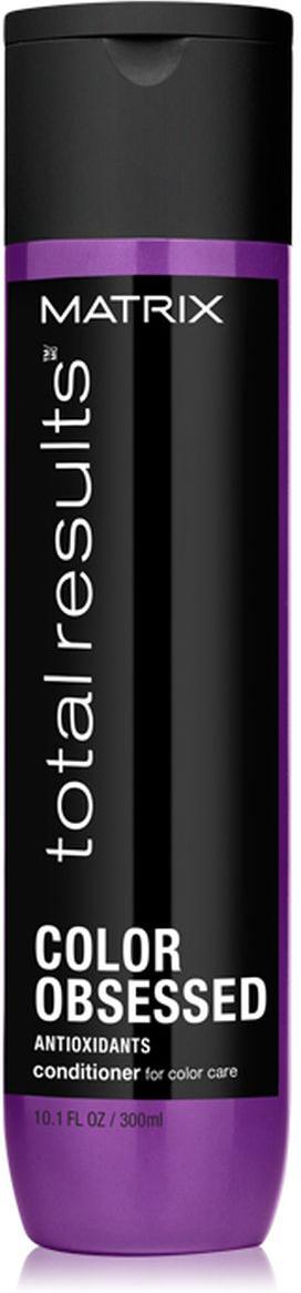 Matrix Total Results Color Obsessed Кондиционер для окрашенных волос с антиоксидантами, 300 мл81466049Кондиционер Color Obsessed с антиоксидантами защищает окрашенные волосы и сохраняет насыщенность цвета*. После окрашивания меняетсяструктура волоса, она становится более пористой. Кондиционер придает поврежденным окрашиванием волосам гладкость, насыщенность цвета иблеск*.*Необходимо использовать все средства из линииColor Obsessed: шампунь, кондиционер и спрей.
