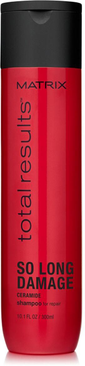 Matrix Total Results So Long Damage Шампунь с керамидами, 300 млE1575900Шампунь So Long Damage (Соу Лонг Дэмэдж) с керамидами укрепляет волосы по длине и снижает их ломкость, что позволяет сохранить длину волос. Сильные и менее ломкие волосы* с более интенсивным блеском.*При использовании системы из шампуня, кондиционера и несмываемого эликсира.