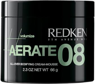Redken Volume Aerate 08 Крем-мусс для объема, 125 млP0897400Крем-мусс придает волосам невероятный объем, обладающий удивительной стойкостью, не утяжеляет волосы. Секрет кроется в формуле мусса, в нее добавлена целлюлоза. Этот и целый ряд других полезных компонентов обеспечивают укладке упругость, оставляя волосы легкими и подвижными. Пряди не склеиваются, а напротив, эффектно отделяются друг от друга, если этого требует стиль прически. Подходит для окрашенных волос. В состав средства добавлены компоненты, сохраняющие красящие пигменты и УФ-фильтры, препятствующие выгоранию прядей. Обеспечивает защиту локонов при укладке термоприборами.