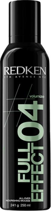 Redken Volume Full Effect 04 Увлажняющий мусс-объем для волос, 250 мл33941Увлажняющий мусс-объем для волос - это превосходное средство для придания волосам дополнительной плотности и защиты во время укладки от горячего воздуха. Оно эффективно увлажняет и способствует сохранению стойкости цвета после окрашивания. Уникальный компонент Valume Lock Complex создает объем у корней волос и облегчает укладку.