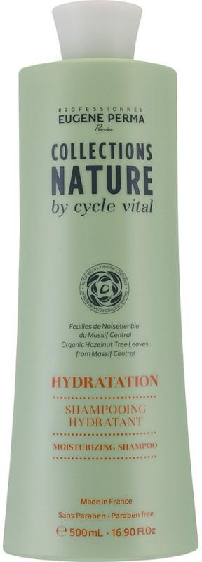 Eugene Perma Cycle Vital Nature Shampooing Hydratant - Шампунь для волос увлажняющий 500 мл21032998Мягко очищает и увлажняет волосы, восстанавливает гидролипидный баланс. Придает гладкость, шелковистость и блеск. Молодые листья орешника из Центрального массива являются самым природным эликсиром красоты, и высоко ценятся за свои антиокисляющие и реконструирующие свойства