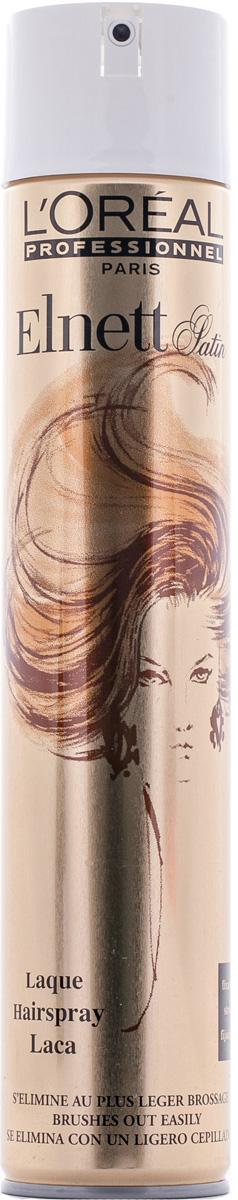 LOreal Professionnel Лак для волос Elnett Laque / Эльнeтт Жеробоам - 500 млE2000481Основная функция лака Эльнетт атласный Лак от Лореаль придать вашей прическе пышный объем у корней волос и надежно закрепить укладку. Специальная формула этого лака позволяет очень ровно и равномерно наносить его на волосы. При этом, лак не утяжеляет структуры ваших волос, не склеивает их и не оставляет на волосах некрасивого налета. Прическа идеально держится в течение долгого рабочего дня. Пышные волосы сияют здоровьем и заставляют прохожих восхищенно смотреть вам вслед. Вы – само совершенство!