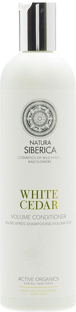 Natura Siberica Estonia Copenhagen Бальзам обьем белый кедр 400 мл086-13-16439Кондиционер «Белый кедр» интенсивно заботится о волосах, оздоравливая и придавая блеск и объем, облегчает расчесывание. Белый кедр содержит комплекс витаминов, аминокислот и микроэлементов, необходимых для роста крепких и здоровых волос, активизирует процессы регенерации, придает силу и блеск. Лен богат витаминами групп А, В, Е, F и полезныминенасыщенными жирными кислотами, он способствует сохранению влаги, увлажняя волосы по всей длине. Гидролизованный кератин воздействует на структуру волос, обволакивая и приподнимая их у корней, придает упругость, помогая сохранять желаемый объём. Аминокислоты шелка легко проникают внутрь волоса, глубоко питая и заполняя все повреждения и неровности, делая их гладкими и мягкими, словно шелк.