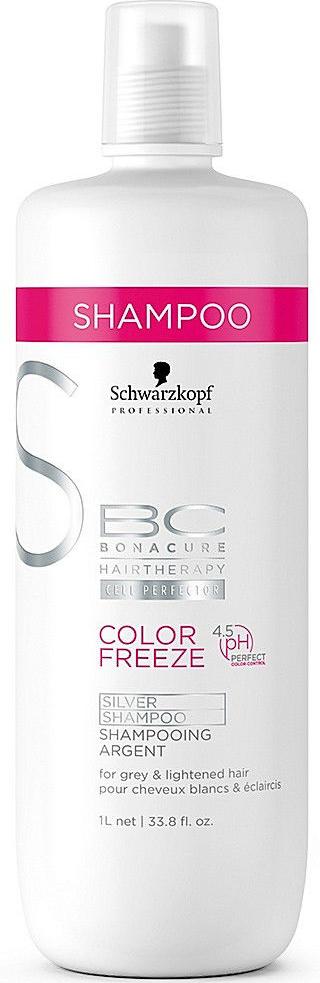 Bonacure Защита цвета Color Freeze Silver Сияние Шампунь Серебристый оттенок 1000 мл099-141801256/239843Для эффективного поддержания холодного оттенка волос без образования нежелательного желтого тона лаборатория немецкой косметической марки Schwarzkopf разработала придающий серебристый оттенок шампунь Сияние Цвета Bonacure Color Freeze Silver Shampoo. Этот продукт содержит специальные пигменты прямого действия, которые предназначены для волос, окрашенных в холодные тона. Средство подходит для седых, мелированных, блондированных и осветленных прядей.Данный шампунь в своем составе содержит особую формулу, включающую такой уникальный компонент, как реактивный силан, благодаря которому удается очень надежно закрепить результат окрашивания и придать волосам невероятный блеск. Присутствие антижелтых пигментов способствует сохранению холодных оттенков на светлых волосах.Результатом регулярного использования шампуня, придающего серебристый оттенок волосам, является максимально надежное и продолжительное по времени сохранение цвета окрашенных волос без появления желтых оттенков. Пряди также обретают блеск и защиту от неблагоприятного внешнего влияния вплоть до следующего посещения салона красоты.