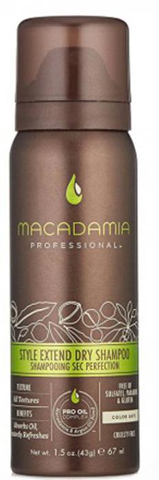 Macadamia Professional Сухой шампунь Продли свой Стиль, 43 гр500114Легкий сухой шампунь Macadamia Professional с экстрактами алое вера, цветов пассифлоры и рисовым крахмалом продлевает срок укладки и созданного образа. Абсорбирует загрязнения и себум, мгновенно освежает волосы. Ваши волосы снова чистые, подвижные и объемные!Сухой шампунь: всё, что нужно знать. Статья OZON Гид