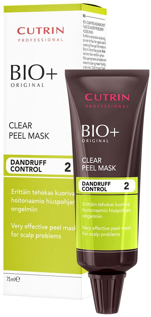 Cutrin Bio+ Очищающая маска от перхоти, 75 мл14802Перхоть – не только неприятное явление, но и признак нарушения работы сальных желез. Белесые чешуйки даже в небольшом количестве портят внешний вид волос и делают прическу неопрятной. Очищающая маска от перхоти Bio+ обладает отшелушивающими свойствами и производит эффект пилинга – глубоко очищает кожу и восстанавливает ее липидный баланс. Применение маски полностью избавляет от перхоти, устраняет зуд и раздражения. Специалисты рекомендуют использовать данное средство в комплексе с шампунем и активным лосьоном Cutrin для достижения максимального результата.