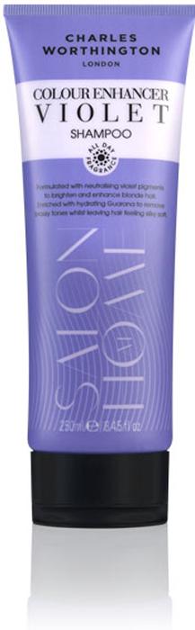 Charles Worthington Шампунь для защиты цвета светлых волос Фиолетовое тонирование, 250 мл.21033747Этот фиолетовый шампунь, обогащенный увлажняющим экстрактом гуараны, удаляет нежелательные оттенки, делая волосы гладкими и шелковистыми. Светлые волосы выглядят более яркими. Благодаря специальной технологии FragranceLock ™, шампунь придает волосам стойкий приятный аромат, которым Вы будете наслаждаться в течение всего дня