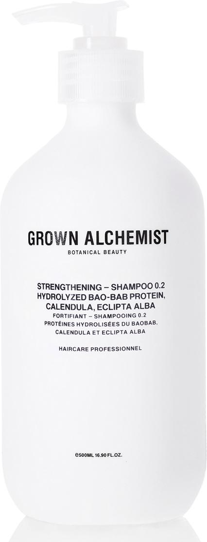 Grown Alchemist Укрепляющий шампунь 500 млGRA0167Эффективная формула тщательно очищает волосы и восстанавливает после химического воздействия, горячих укладок и контактов с окружающей средой. Делает волосы здоровыми на вид, увлажненными, мягкими и блестящими. Что делать при выпадении волос – статья на OZON Гид.
