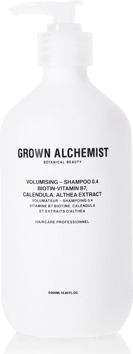 Grown Alchemist Шампунь для придания объема волосам 500 млA8931700Инновационная формула придает объем тонким волосам, а также тщательно очищает не провоцируя повреждений. Волосы остаются увлажненными и выглядят более густыми и объемными.