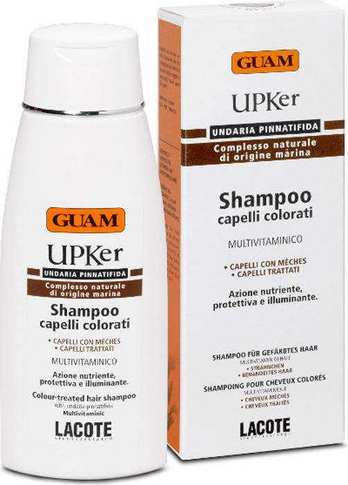 Guam Шампунь для окрашенных Upker, 200 мл.0633Мягкий очищающий шампунь с кислым рН (4 до 4,5), помогает надолго сохранить блеск и интенсивность цвета окрашенных волос.