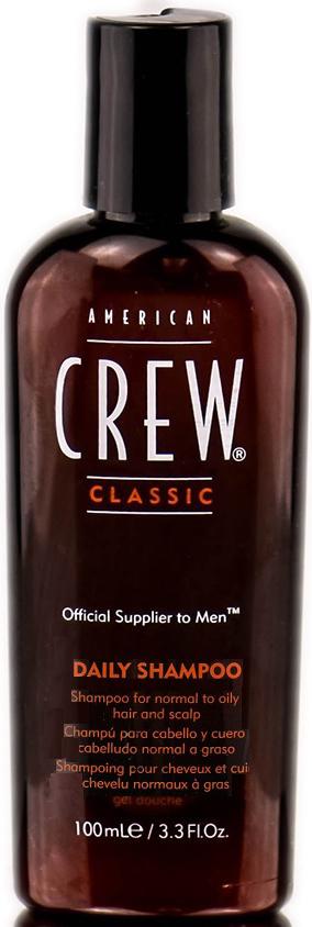 American Crew Classic Daily Shampoo Шампунь для ежедневного ухода, 100 мл ollin шампунь для ежедневного применения рн 5 5 service line daily shampoo ph 5 5 1000 мл