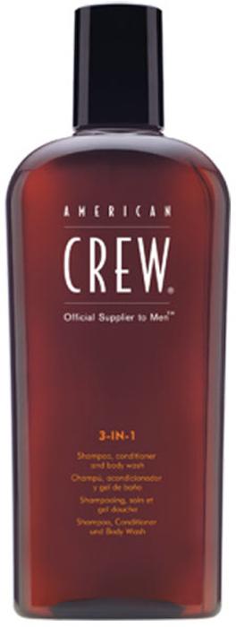 American Crew Classic 3-in-1 Shampoo, Conditioner and Body Wash Средство 3 в 1 Шампунь, Кондиционер и Гель для душа, 100 мл american crew 24 hour deodorant body wash гель для душа дезодорирующий 450 мл