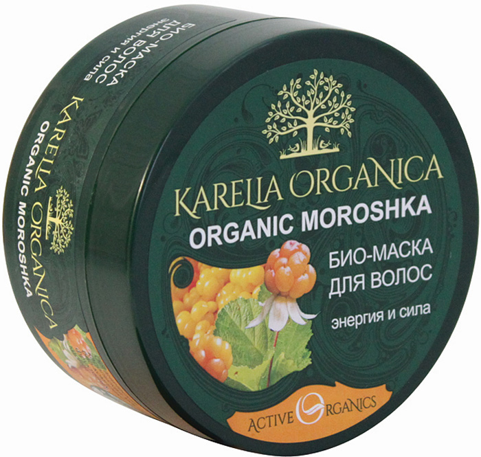 Karelia Organica Био-Маска Organic MOROSHKA Энергия и сила, 220 мл karelia organica био гель для душа organic brusnika витаминный 310 мл