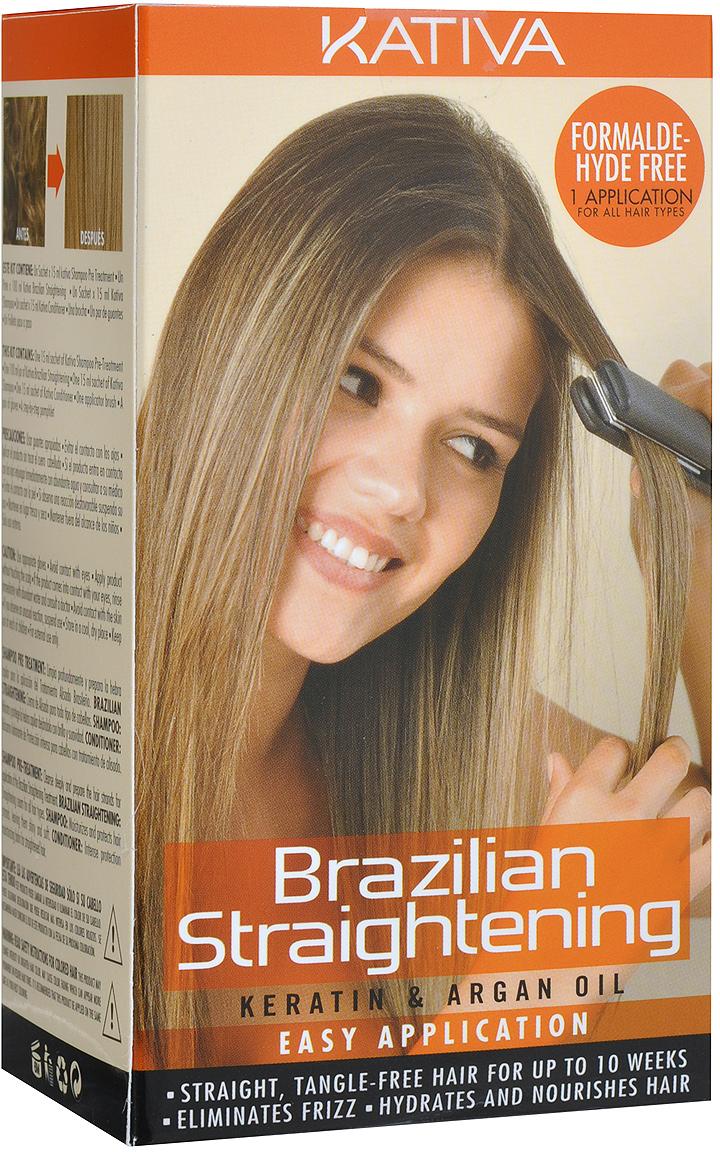 Kativa Набор для кератинового выпрямления и восстановления волос с маслом Арганы KERATINA средства для волос