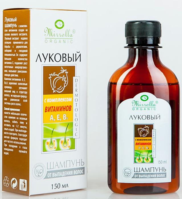 Мирролла Луковый шампунь для волос, с комплексом витаминов, 150 мл мирролла репейный шампунь с комплексом витаминов для укрепления волос 150мл