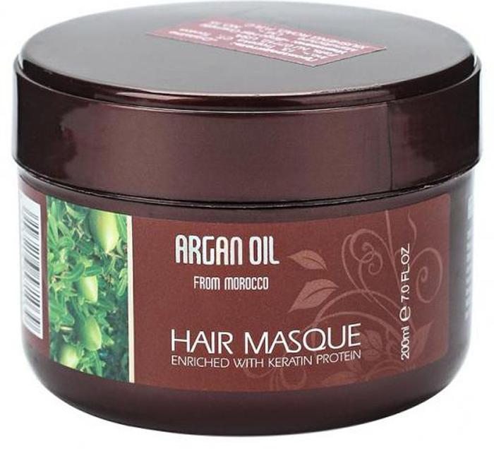 Morocco Argan Oil Маска для волос восстанавливающая  маслом арганы  кератином,200 мл.
