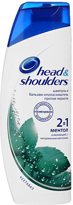 Шампунь и бальзам-ополаскиватель против перхоти 2в1 Head & Shoulders Ментол, 200 мл
