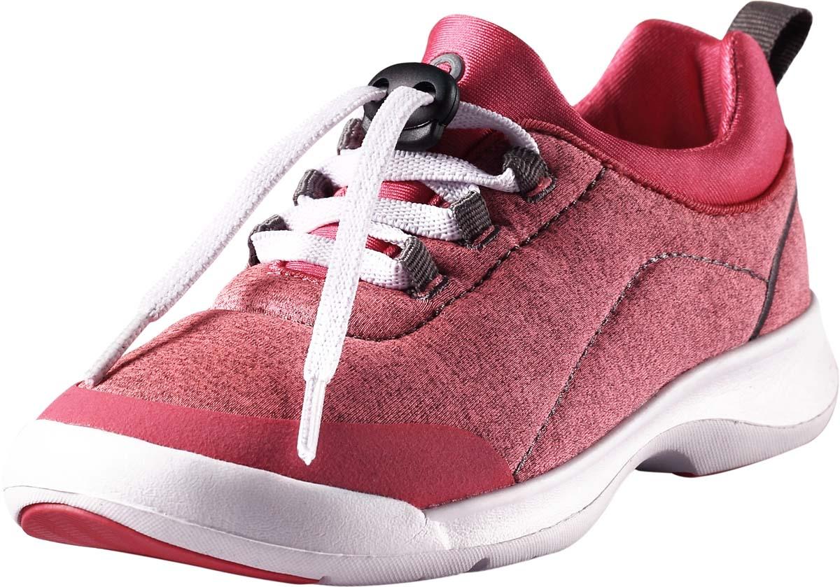Кроссовки детские Reima Shore, цвет: розовый. 5693363290. Размер 355693363290Стильные детские кроссовки Shore от Reima прекрасно подойдут для активногоотдыха на открытом воздухе. Модель выполнена из текстиля.Резиновый каркас носка защищает детскую стопу от ударов. Удобная шнуровка со стоппером надежно фиксирует модель наноге. Задник оснащен ярлычком, который выполняет функцию ложки дляобуви. Мягкая стелька из EVA-материала с текстильной поверхностьюгарантирует максимальный комфорт при ходьбе. Подошва с рифлением обеспечивает отличное сцепление с поверхностью.Удобные кроссовки придутсяпо душе вам и вашему ребенку!