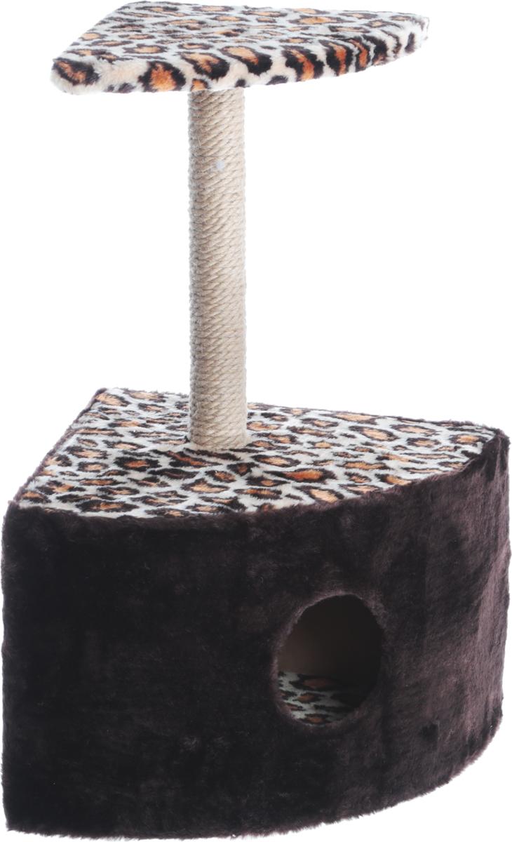 Домик-когтеточка Велес, угловой, цвет: леопард, 45 х 40 х 70 см13_леопардДомики Велес украсят интерьер вашей квартиры, дадут вашему любимцу уютный и красивый дом, а вам - уверенность в сохранности мебели и интерьера.