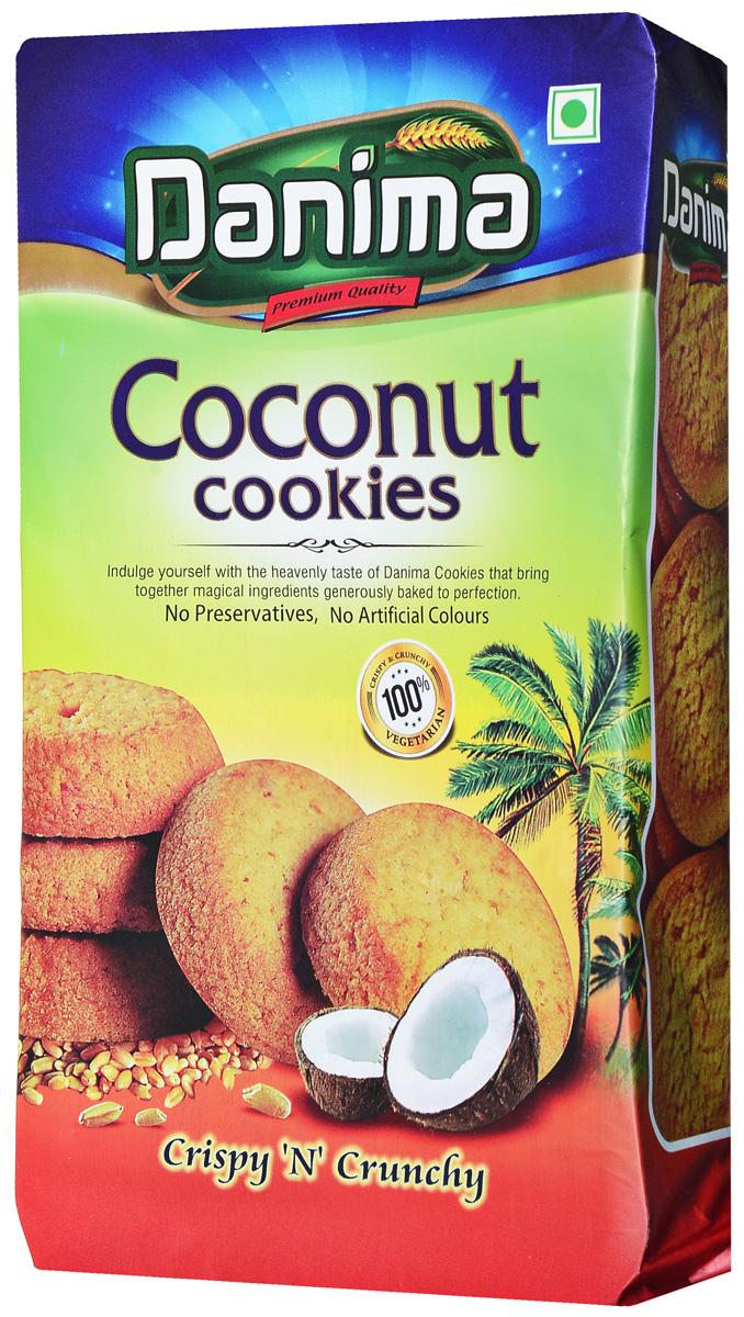 Danima кокосовое индийское печенье, 350 г danima печенье ассорти с тмином и кокосовой стружкой 300 г