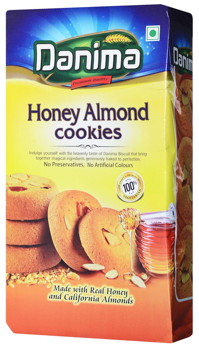 Danima медовое индийское печенье с миндалем, 400 г danima печенье ассорти с тмином и кокосовой стружкой 300 г
