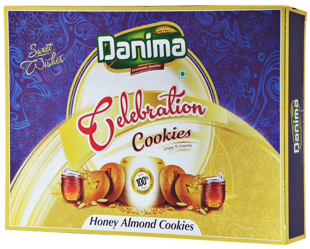 Danima медовое индийское печенье с миндалем, 300 г danima печенье ассорти с тмином и кокосовой стружкой 300 г