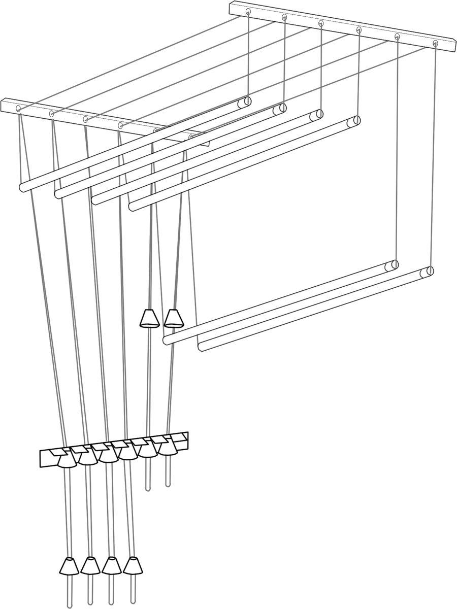 Сушилка для белья ЛакМет Лиана, потолочная, цвет: белый, 50 х 40 х 1200 мм114514Сушилка для белья ЛакМет Лиана позволяет свободнорасположить большое количество белья, а также экономитсвободное пространства в доме.Изделие можно установить на потолке, балконе илиразместить на стеке в ванной.Сушилка включает в себя: пластиковые кронштейны сроликами, которые крепятся к потолку, металлическиестержни (подвешиваются горизонтально), фиксирующая скоба(крепится в любом удобном месте стены). Кронштейн: 2 шт.Диаметр стержня: 1,2 см.Количество стержней: 5 шт.