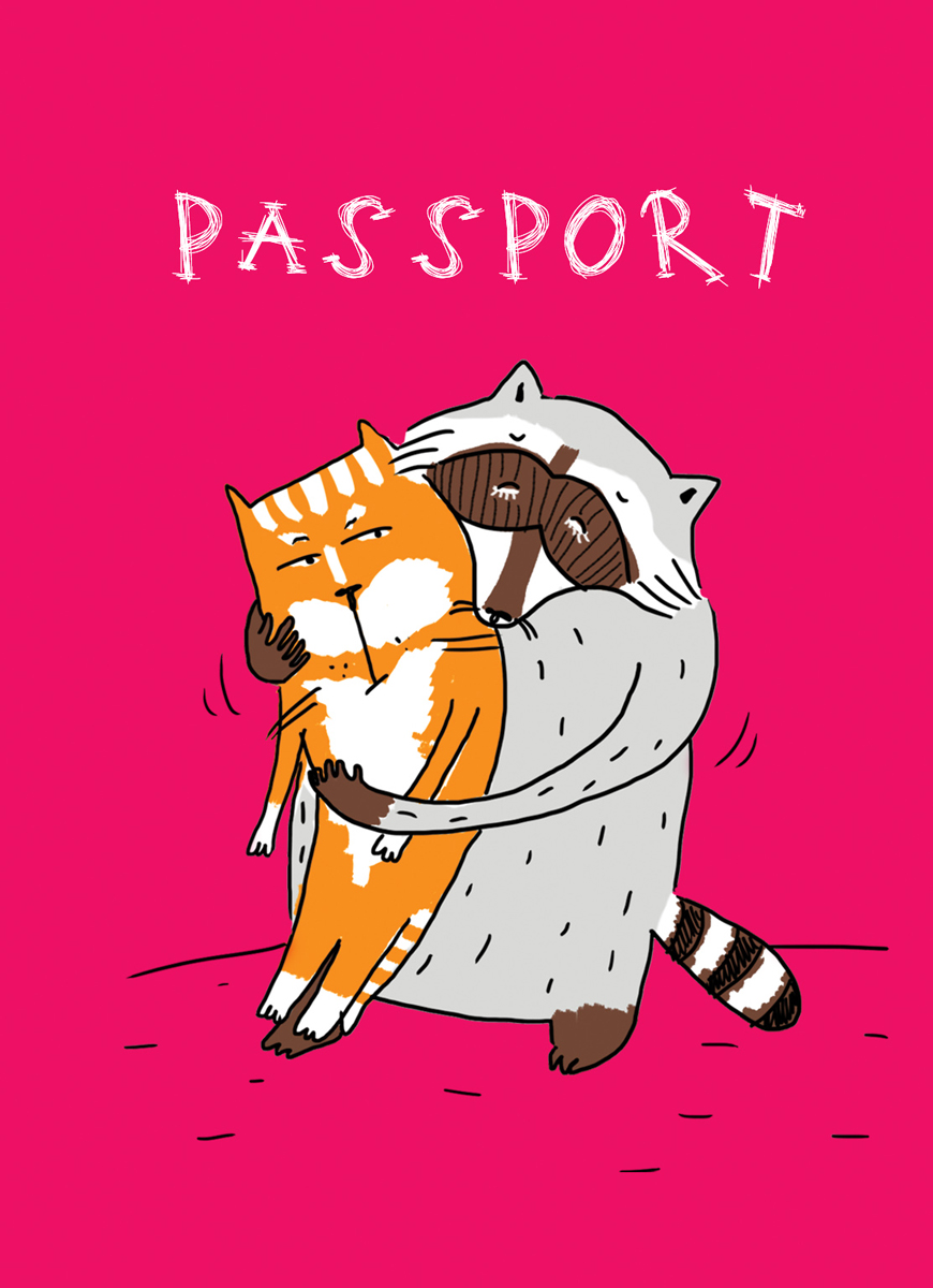 Обложка для паспорта женская Эксмо