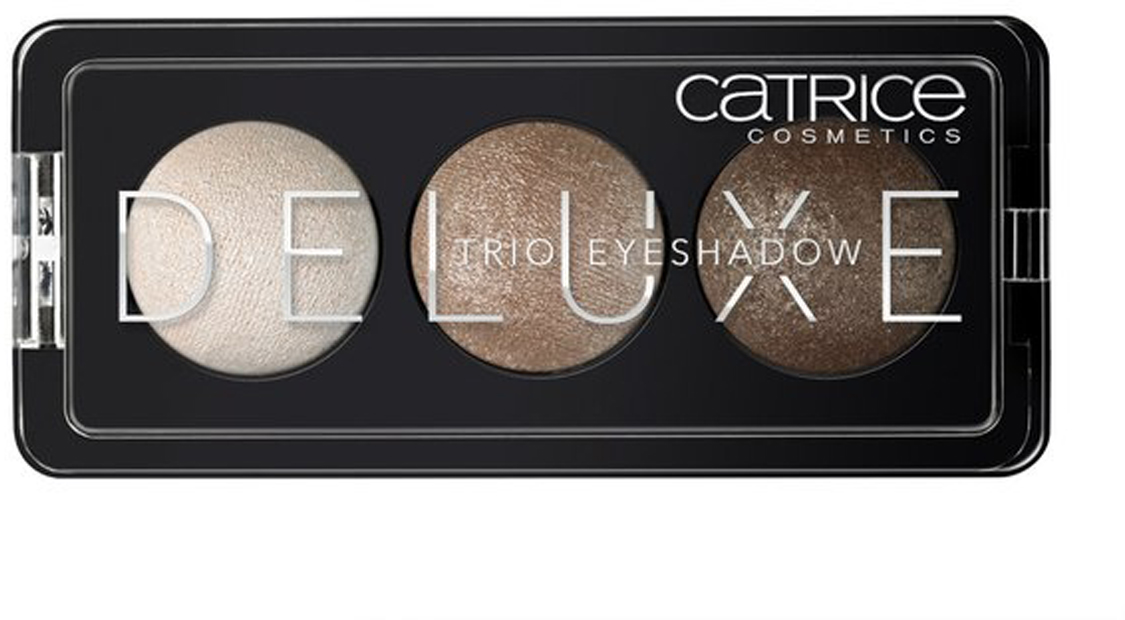 CATRICE Тени для век Deluxe Trio Eyeshadow 010 Antique Cest Tres Chic бежевые тона, 2,2гр54373Премиум-трио. Три идеально подобранных тона в каждой палетке теней обладают интенсивным цветом и потрясающей стойкостью. Новые запеченные тени CATRICE Deluxe Trio Eyeshadow предлагают впечатляющую палитру оттенков и роскошный шиммерный финиш. Представленные в светло-коричневых, серых и баклажановых тонах, они помогут создать эффектный макияж глаз с мягкими цветовыми переходами.