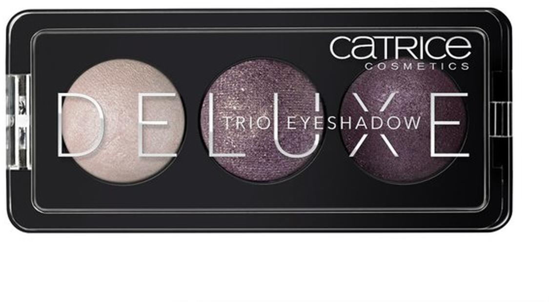 CATRICE Тени для век Deluxe Trio Eyeshadow 030 Rose Vintouch бордовые тона, 2,2гр54375Премиум-трио. Три идеально подобранных тона в каждой палетке теней обладают интенсивным цветом и потрясающей стойкостью. Новые запеченные тени CATRICE Deluxe Trio Eyeshadow предлагают впечатляющую палитру оттенков и роскошный шиммерный финиш. Представленные в светло-коричневых, серых и баклажановых тонах, они помогут создать эффектный макияж глаз с мягкими цветовыми переходами.