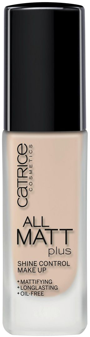 CATRICE Основа тональная All Matt Plus Shine Control Make Up 010 Light Beige светло-бежевый, 30мл тональная основа catrice all matt plus shine control make up цвет nude beige 020 variant hex name d0a58b