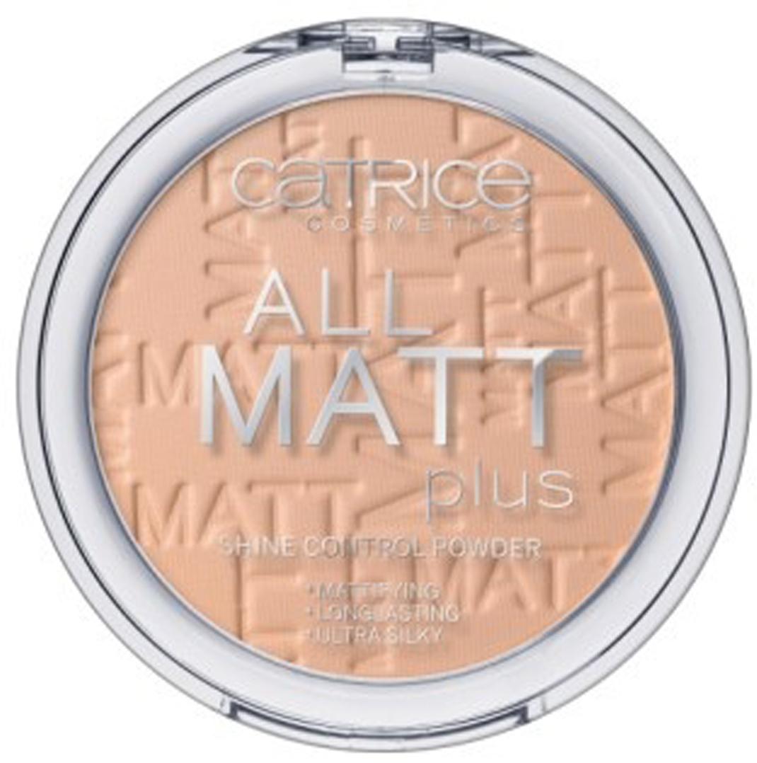 CATRICE Пудра компактная All Matt Plus Shine Control Powder 025 Sand Beige песочно-бежевый, 10гр пудра матирующая cosmia t4 beige