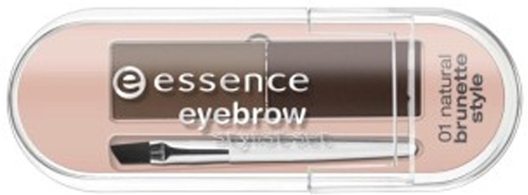 essence Набор для бровей компактный eyebrow stylist set, 2гр24018Этот набор поможет придать бровям правильную форму, скорректировать цвет, густоту волосков. Небольшая прозрачная упаковка, продукт представлен в виде двух оттенков теней – тёмный для брюнеток, светлый – для блондинок, в комплект входит скошенная небольшая кистьКак создать идеальные брови: пошаговая инструкция. Статья OZON Гид