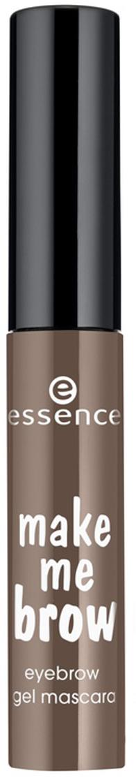 essence Цветной Гель для бровей темно-коричневый т.02, 3,8гр52842Данный гель представлен в двух оттенках – для светлых волосков и для тёмных бровей.Упаковка представляет собой компактный миниатюрный флакончик с чёрной крышкой. Маленькая функциональная кисточка с небольшими ворсинками разного размера помогает придать волоскам дополнительный объём, хорошо прокрашивает волоски и равномерно отдаёт продуктКак создать идеальные брови: пошаговая инструкция. Статья OZON Гид