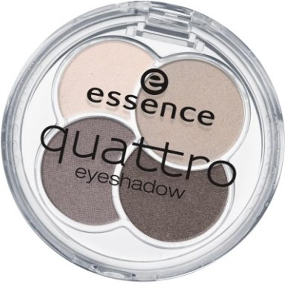 essence Тени для век QUATTRO т.07, 5гр48262Cочетание четырех восхитительных оттенков позволят создать любой тип макияжа – утонченный дневной или изысканный вечерний Шелковистая текстура Идеально сохраняются в течение всего дня