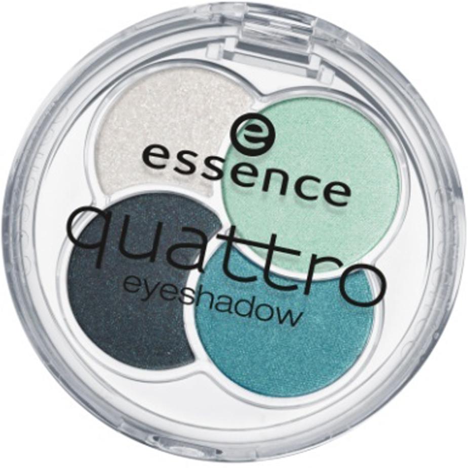 essence Тени для век QUATTRO т.13 серо-зеленые, 5гр74213Cочетание четырех восхитительных оттенков позволят создать любой тип макияжа – утонченный дневной или изысканный вечерний Шелковистая текстура Идеально сохраняются в течение всего дня